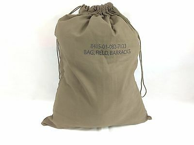 Laundry Bag Heavy Duty Canvas Drawstring GI Style Camping Water Resistant Olive
