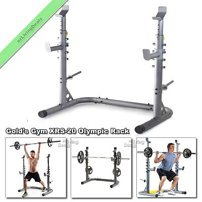 Golds Gym XRS 20 Olympic Workout Squat Rack Weight Lifting Bench Stand Racks