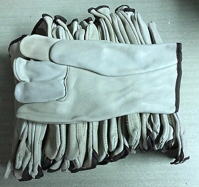 12 Pair Pack, Goat Skin Grain Leather Drivers, work safety gloves, Size L NEW