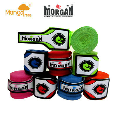 MORGAN MEXICO Muay Thai Kick Boxing MMA ELASTIC HAND WRAPS Handwrap