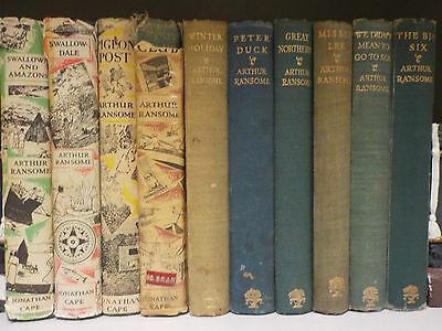 Vintage Arthur Ransome - 10 Books Collection! (ID:44616)