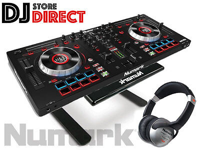 NUMARK MIXTRACK PLATINUM DJ 4 Channel Controller + LAPTOP STAND + Headphones