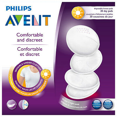 NEW Avent Breast Pad Disposable Day 30 Pack Baby Feeding Accessories