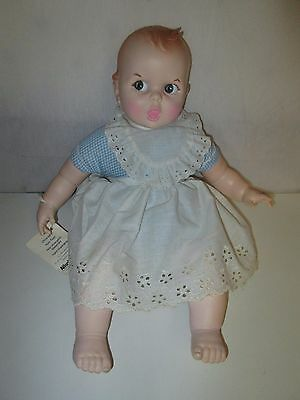 "Vintage GERBER BABY DOLL 17 1/2"" w/ EYES Roll by Atlanta Novelty"