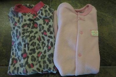 First Moments & Starting Out Soft Baby Girls Fleece Sleep Sacks Size 0-6 Mo Euc!