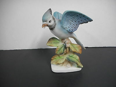 Vintage Porcelain Blue Jay Bird 1938