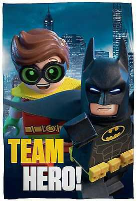 EXTRA LARGE New Lego Batman Movie Super Soft Fleece Blanket Boys Kids Bed Throw