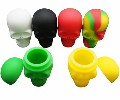 YHSWE 3pcs 15ml Skull Silicone Dab Container Silicone Jar Take Icky out of