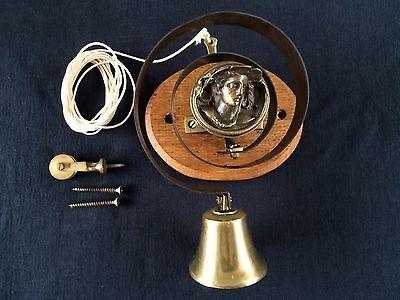 Period Internal Brass Door / Butlers Spring Bell