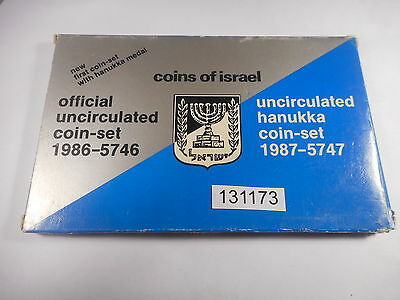 1987 Israel Official Uncirculated Coin Set - Nice Lot - # 131173 Orig Box