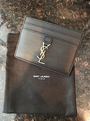 100% Authentic Saint Laurent Monogram Leather Card Case-BNWT-Barney's New York