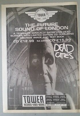 THE FUTURE SOUND OF LONDON DEAD .. ORIG 1996 NME Magazine Advert Poster Size @