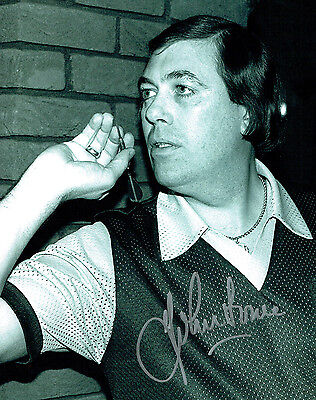 JOHN LOWE 9 Dart Legend HAND SIGNED autograph 10x8 Action Photo AFTAL