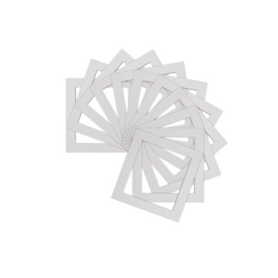 Pack of 10 Instagram Square Picture Photo Mounts - Various Sizes  White