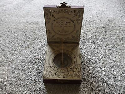 French? Nautical Maritime Compass With Sundial In Wooden Box