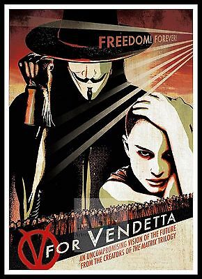 V For Vendetta  3  Poster Greatest Movies Classic & Vintage Films