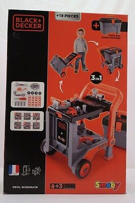 Smoby Black and Decker Devil Workmate 3-in-1 Tool Box and Trolley