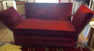 Antique English Knole Settee Velvet