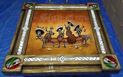 Mexican Skeleton Band Domino Table by Domino Tables by Art