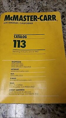 Mcmaster carr catalog #113 used
