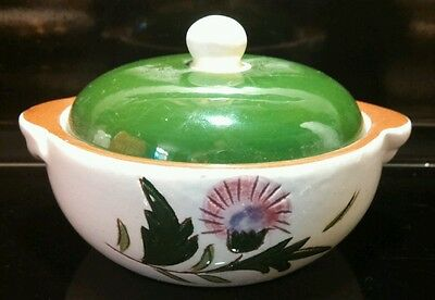Stangl Pottery THISTLE Individual Covered Casserole Dish W Lid Hand Painted Vnt