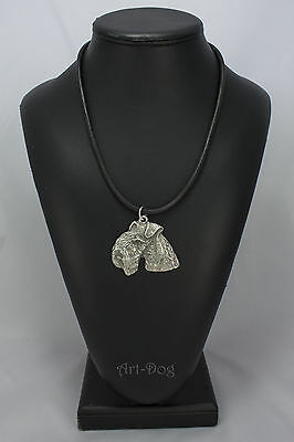Lakeland Terrier, silver covered necklace, high qauality Art Dog
