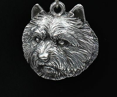 Norwich Terrier, silver covered necklace, high qauality Art Dog