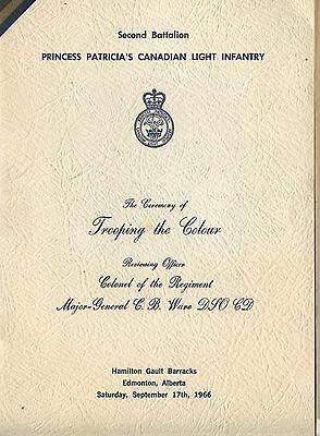 Od 1966 Programme 2nd Batt Princess Pat's Light Infantry Trooping the colour