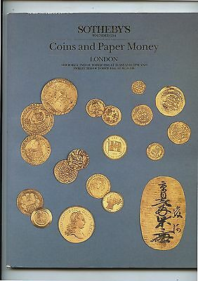 Old 1986 Sotheby's Auction Catalog Coins & Paper Money