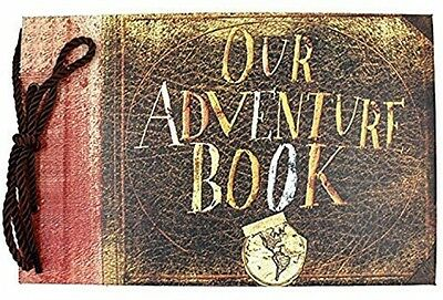 Our Adventure Memory Book Pixar Up Handmade Scrapbook Photo Album Wedding Album