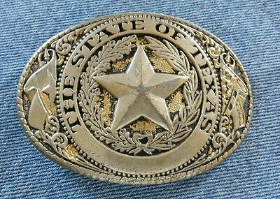 State Of Texas Star Western Belt Buckle Made In Usa