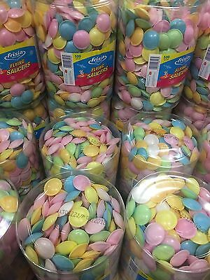 Frisia Flying Saucers Tub Of 500 Ufo Sweets Sherbet Filled Children's Party!!!!!