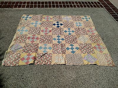 Vintage Antique Handmade Quilt from Kentucy 1920s-1930s hand stitched 79 x 62
