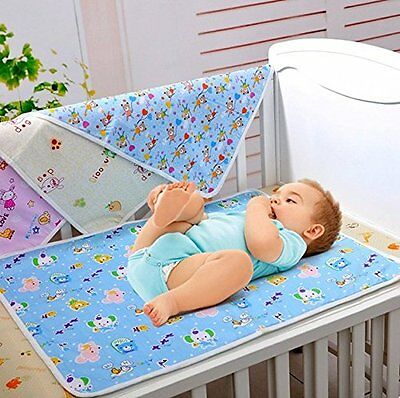 Mixmax Baby & Toddler Waterproof Washable Cotton Diaper Changing Mat Pad for