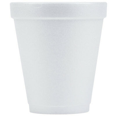 White Styrofoam Cups- Dart 8oz *Pick Qty- 1, 50, 100, 250, 500, or 1000* (4000)