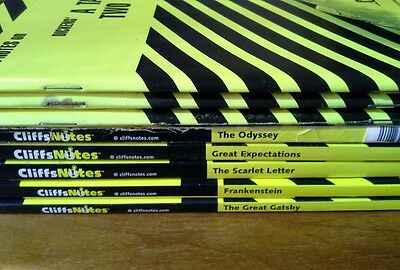 Lot of 8 Cliffnotes Inferno Crime and Punishment Tale of Two Cities