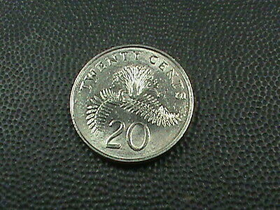 SINGAPORE    20  Cents    1987    UNCIRCULATED