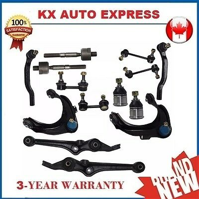14 Pieces Front & Rear Suspension & Steering Kit for Honda Accord & Acura TL CL