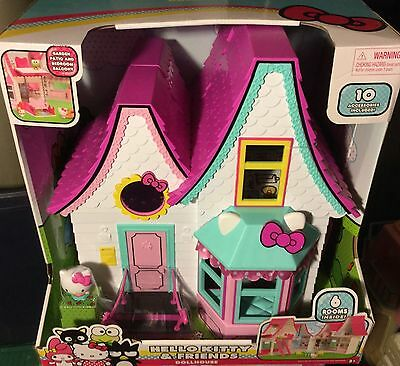 NEW! Hello Kitty Doll House Foldable Playset Pretend Play FREE SHIPPING