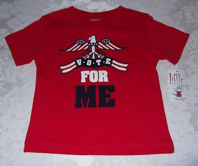 2T Boy Girl VOTE FOR ME Patriotic T-Shirt Red White Blue NWT