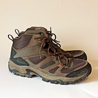 Columbia Men's Size 15 US Woodburn Mid Hiking Boots Brown Cedar Shoes