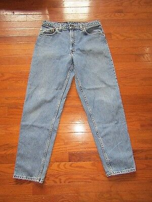 LEVI'S 550 Red Tab RELAXED FIT Tapered Leg Blue Jeans Mens 34 x 31