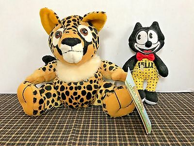 Nat'l Wildlife Federation Endangered Cheetah Plush w Tag and Felix the Cat Toys