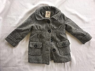 Toddler Girls Old Navy Pea Coat, Grey, Size 2t DARLING! F15