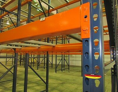 section of pallet rack used new handling shelving stocking storage warehouse