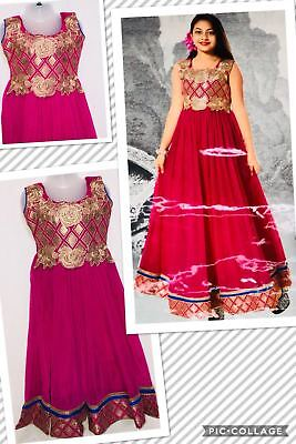 Partywear Fancy Kid Long Ball dress Prom Dress Gown Anarkali Frock age 2 and up