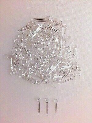 63 CLEAR SMALL PIN LIGHTS BULBS Ceramic Christmas Tree ROUND GLOBES
