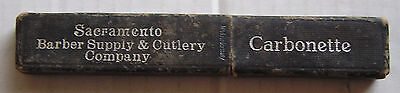 Advertising Razor Box, Sacramento Barber Supply & Cullery Co., Carbonette