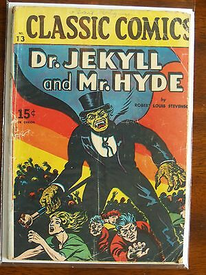 """Rare Vintage Classics Illustrated Issue #13 """"dr. Jekyll And Mr. Hyde"""""""