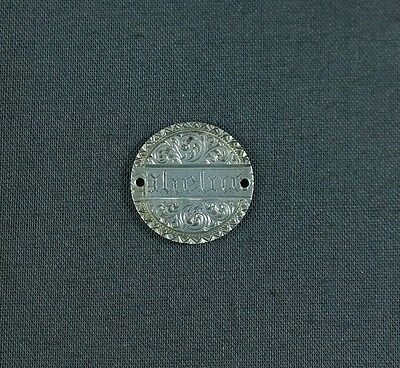 Antique Silver Love Token Engraved Name Phebie Phoebe 1890 Seated Liberty Dime